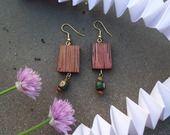 Boucles d'oreilles en bois : Boucles d'oreille par les-bijoux-d-elisabeth