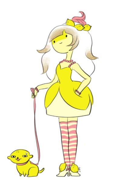 adventure time oc | Lemon Princess. Yes, she is cute, but lemongrab messed me up so much that I am just done with lemons for a while. (forever) :)