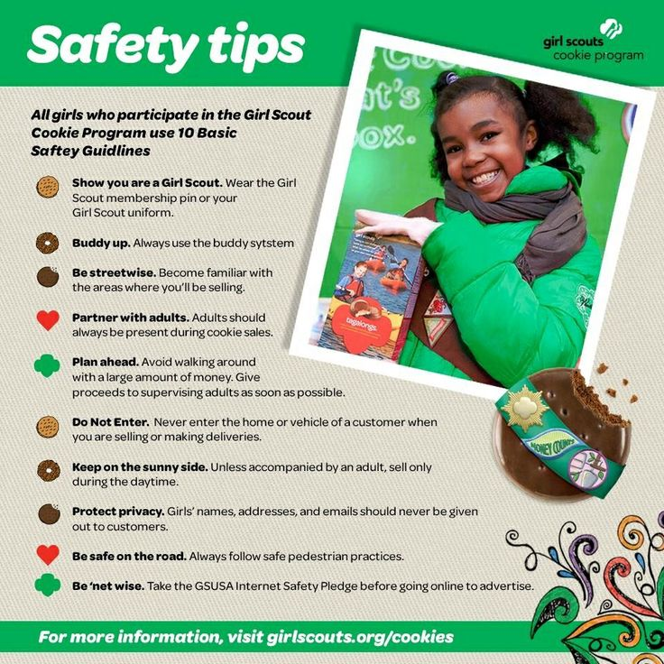 Safety tip GS cookie sales