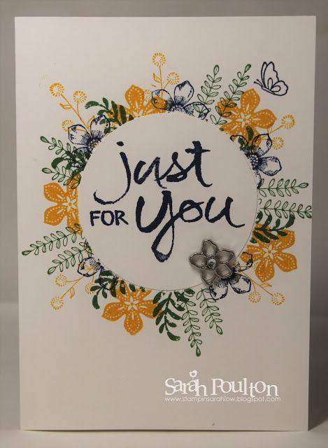 Stampin' Sarah!: A Floral Masked Wreath Card from Stampin' Up! UK Demonstrator Sarah Poulton