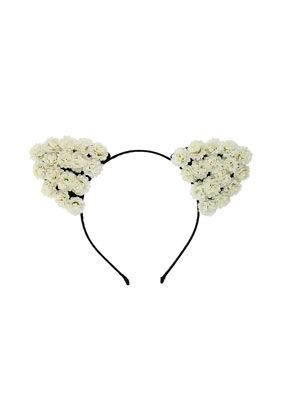 Cream Flowers Aliceband - Hair Accessories - Bags & Accessories