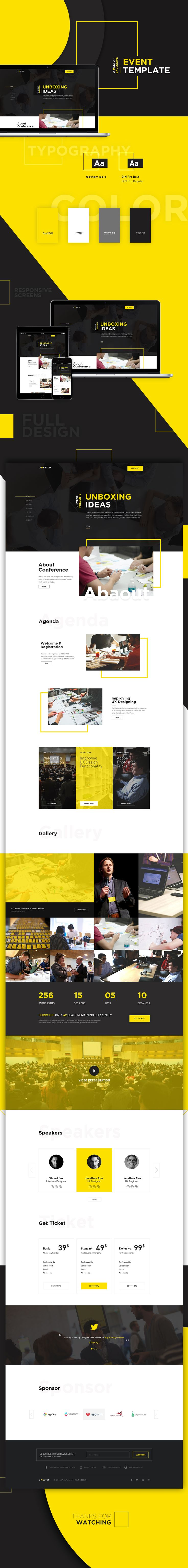 U-MEETUP - Event and Conference Template https://www.behance.net/gallery/40181689/U-MEETUP-Event-and-Conference-Template?