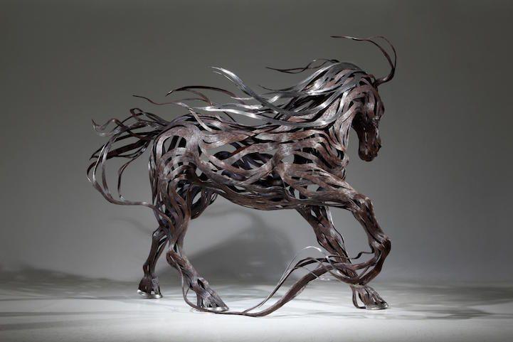 Les Sculptures animalières de Bandes métalliques de Sung Hoon Kang (17)