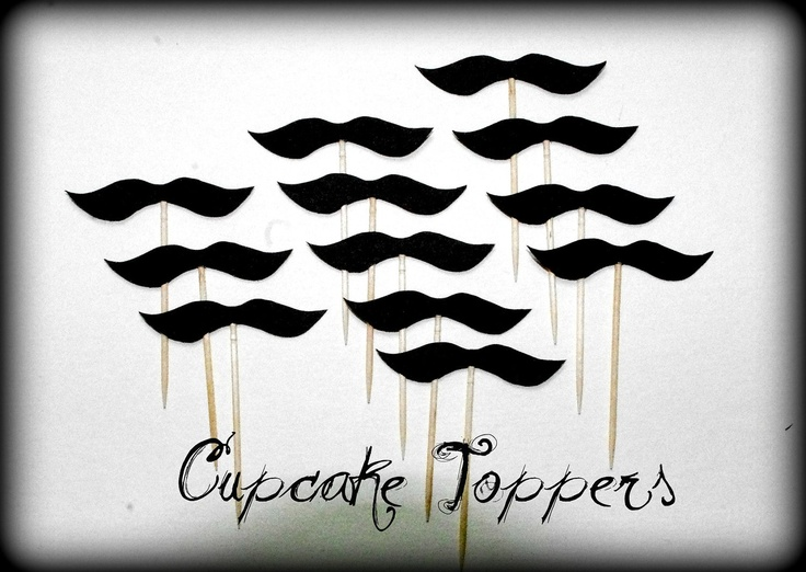 12 Mustache Cupcake Toppers- The Wise Guy- Mustache on a Stick. $7,50, via Etsy.: 12 Mustache, Reveal, Mustache Cupcakes, Shower Mustache, Wise, Party Birthday Party, Man Party Baby, Cupcake Toppers