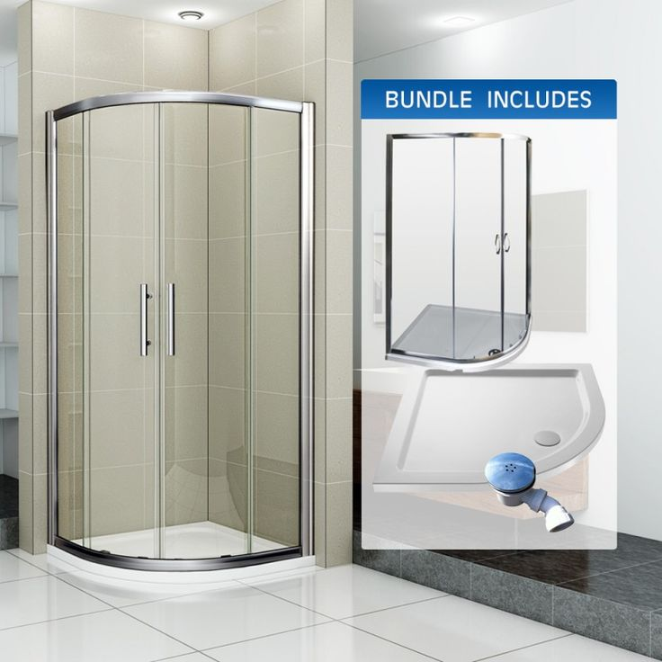 Best 56 Shower Enclosures images on Pinterest | Frameless sliding ...