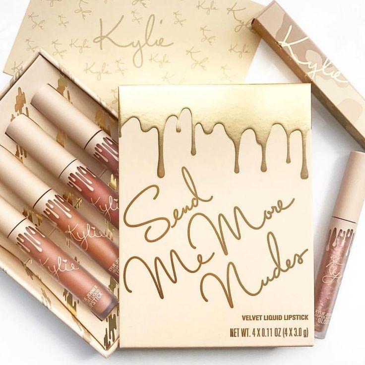 ผลการค้นหารูปภาพสำหรับ Kylie Send Me More Nudes Velvet Liquid Lipstick Set