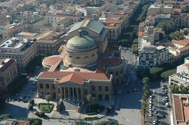 Veduta aerea, teatro Massimo - Palermo