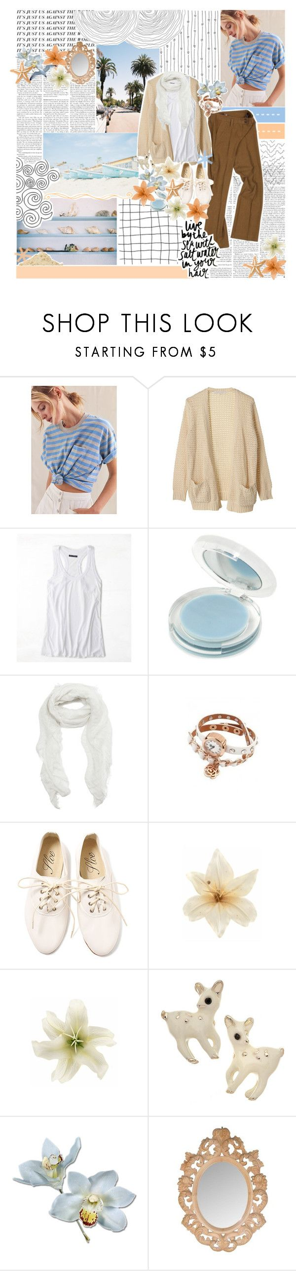 """""""//sweet little unforgettable thing♥"""" by tropical-songwriter ❤ liked on Polyvore featuring Urban Renewal, American Eagle Outfitters, GoSMILE, Subtle Luxury, Salt Water Sandals, Clips and BOBBY"""