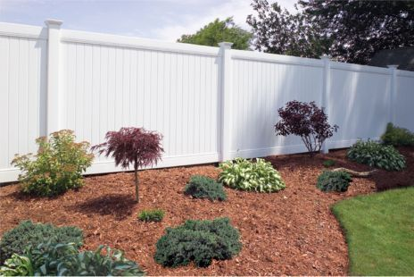 Privacy Vinyl Fence... definitely something that needs to be done in the future