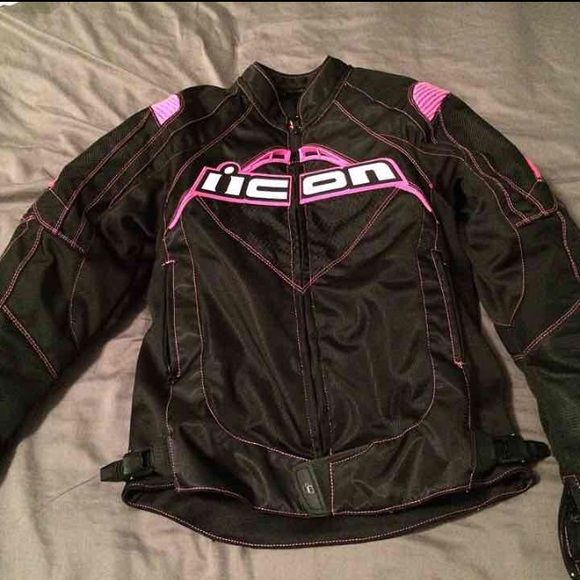 Icon motorcycle jacket Women's size small. Wore once then my boyfriend sold his motorcycle. Like new condition. Inner liner comes out for warmer days. Paid $230 brand new. ICON Jackets & Coats Utility Jackets