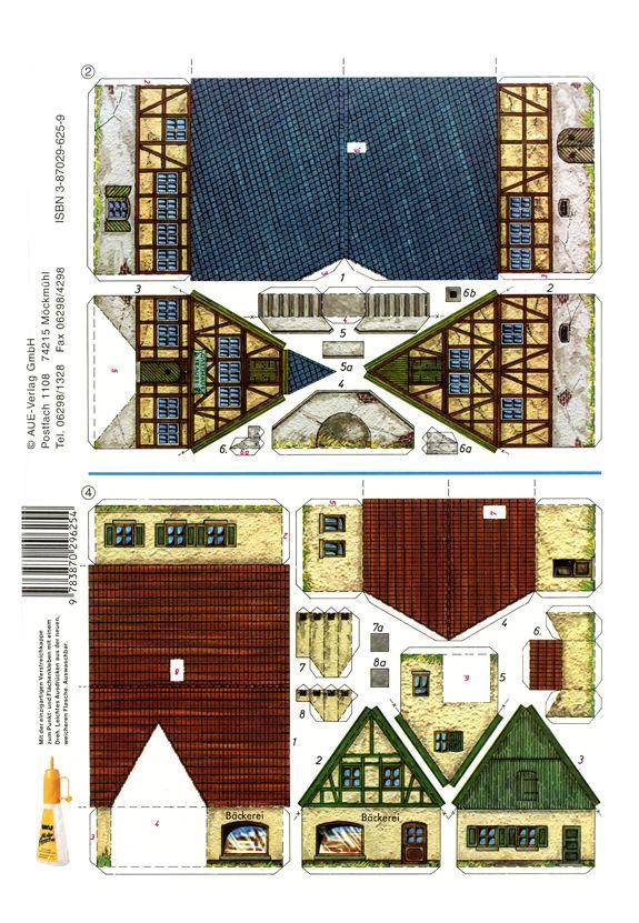 Four Small Buildings - PaperModelKiosk.com
