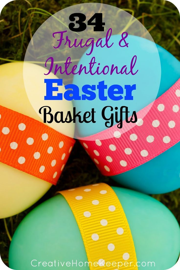 Frugal and Intentional Easter Basket Gift Ideas | Easter