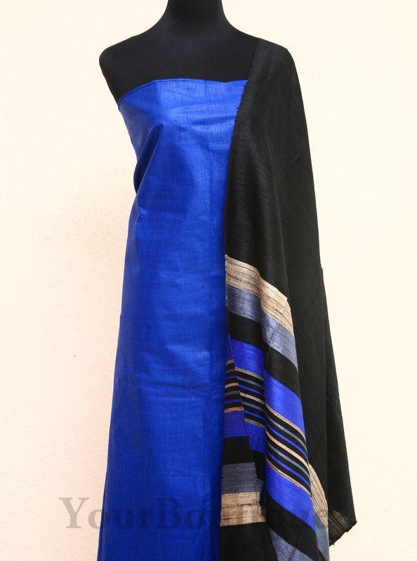 SH024-5 Jute silk top and dupatta. cotton silk bottom.