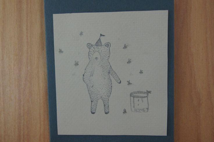 bear and honey card