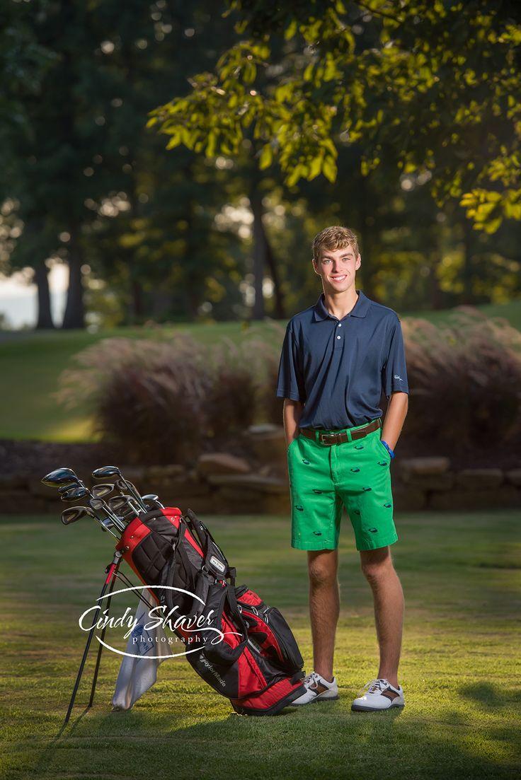 senior guy, golf themed senior pictures, off camera lighting, , outdoor senior portraits, Westminster Christian Academy seniors