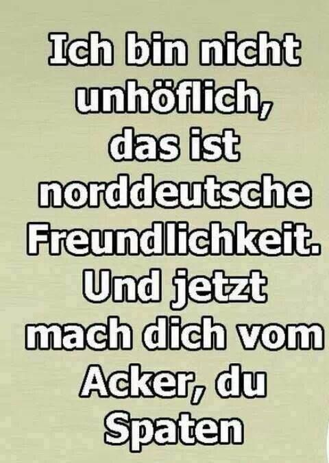 Norddeutsche Freundlichkeit