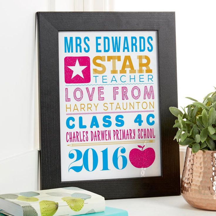 Are you searching for a unique gift for your Child's teacher or classroom assistant? Try creating a personalised print or canvas with your words and photo upload. See your design come to life as you type with instant previews. All orders shipped in just 2 working days with free UK delivery.