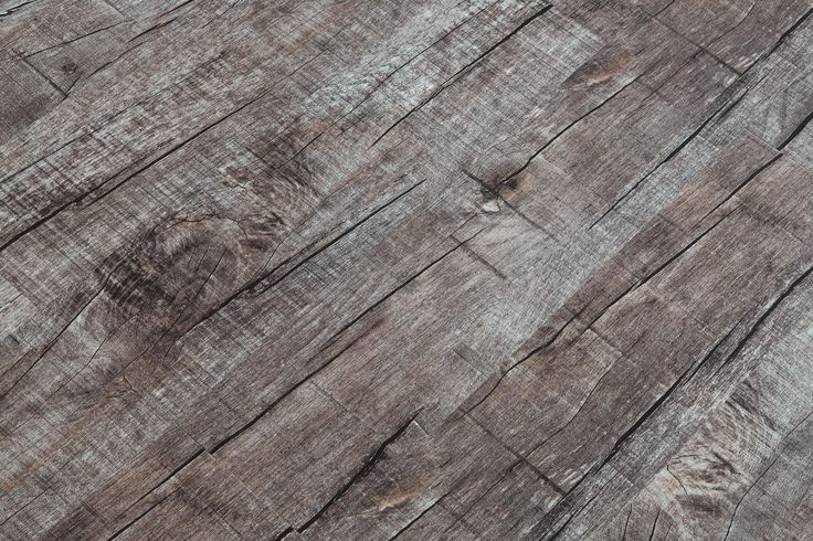 Vinyl Planks - 4mm PVC Click Lock - Distressed Collection - Dark Chocolate / 6''x48''