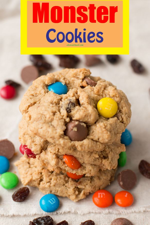 Cookies, Bar Recipe, Monsters Cookies Bar, Chocolate Cookies, Cookies ...