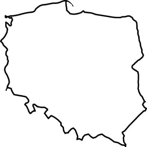 Naklejka ścienna dekoracyjna Mapa Polski kontur