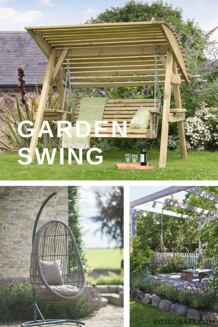 35 Pretty Backyard Ideas With Garden Swings For Relax Garden Swing Backyard Backyard Swings