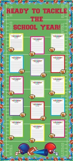 Ready To Tackle The School Year! | Sports Themed Bulletin Board
