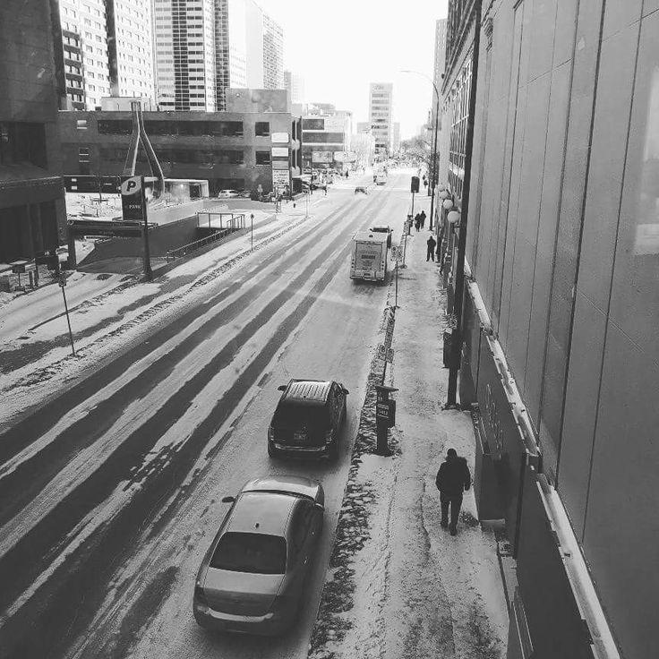 Buildings downtown in Winnipeg Manitoba 2018