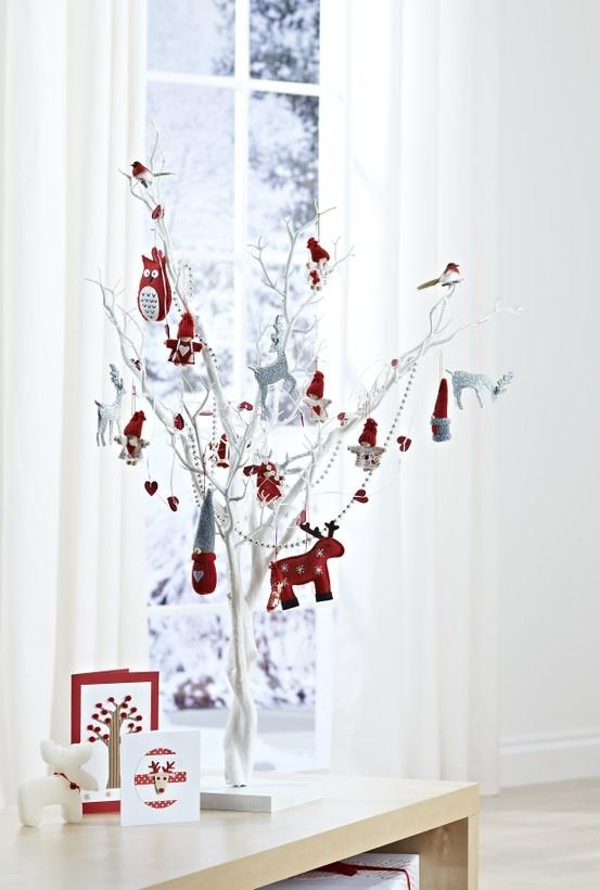 Hobbycraft Christmas white tree #christmastree #tabledecoration #centerpiece #tree
