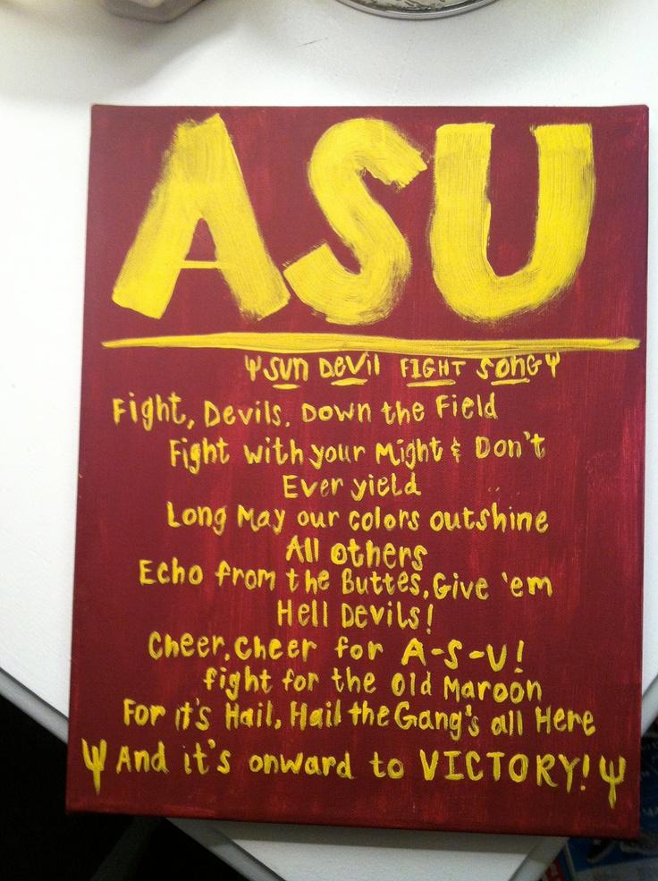 Arizona State University Canvas. $18.00, via Etsy.