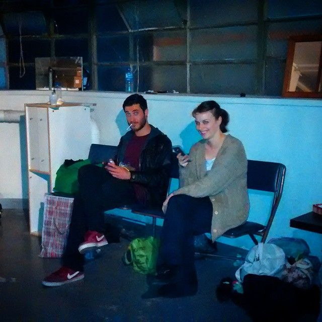 "@shian_denovan's photo: ""Some of the #SnapCatchSlam  cast and crew chilling backstage before tonights show. Another amazing review in today for it, this time from #ArtsHub 4&1/2* #mfringe  #TuxedoCat #Theatre"""
