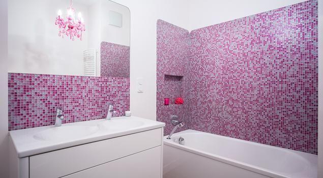 Kobieca łazienka nie tylko dla dziewczynek. #aranżacja #łazienka