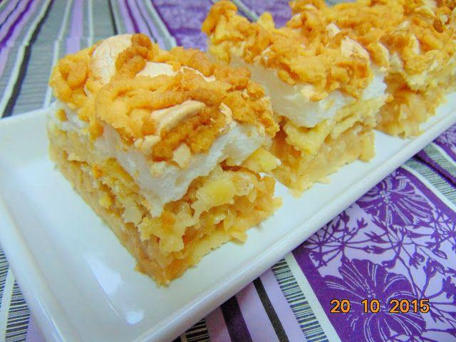 ♨ Pelusiowa Kuchnia ♨: Jabłecznik z chrupiącą bezą