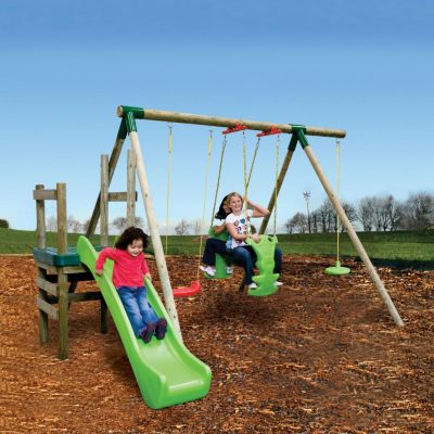 Little Tikes Strasbourg Slide N Swing Set The Little Tikes Strasbourg Slide n Swing Set is an attractive and entertaining swing and play set for kids aged three and above. Created from treated, high grade timber and powder coated metal framin http://www.comparestoreprices.co.uk/outdoor-toys/little-tikes-strasbourg-slide-n-swing-set.asp