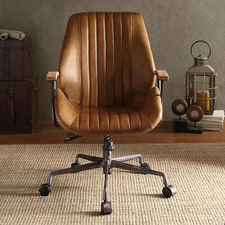 Acme Furniture Hamilton Top Grain Leather Office Task ...