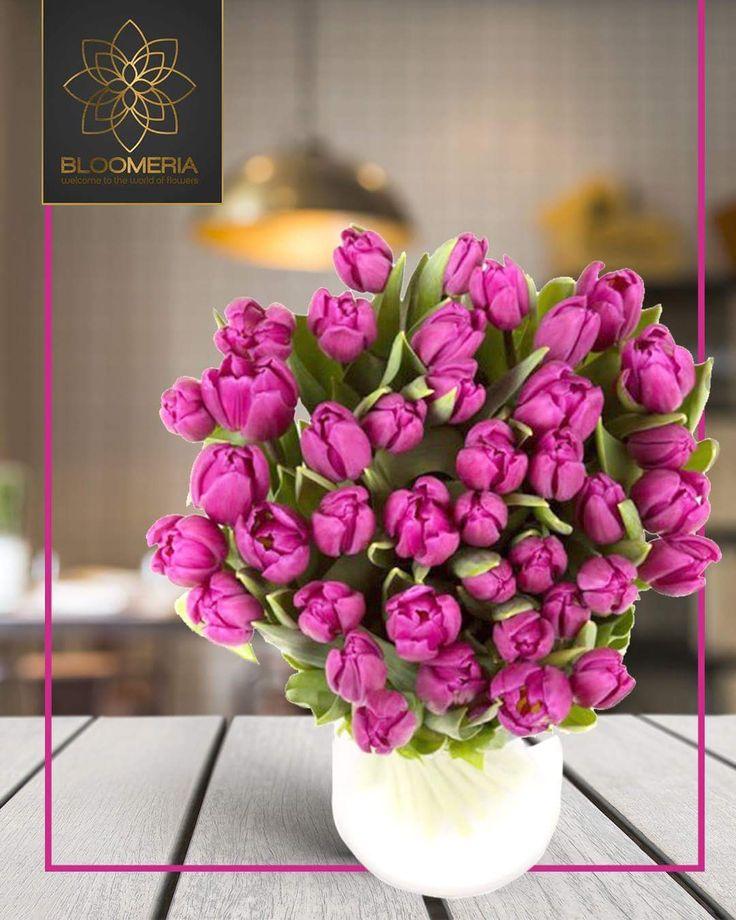 bloomeria.ro Cu acest buchet de lalele, poti fi sigur ca vei face cuiva seara mai frumoasa!  #lalele #bloomeria #purple #florionline
