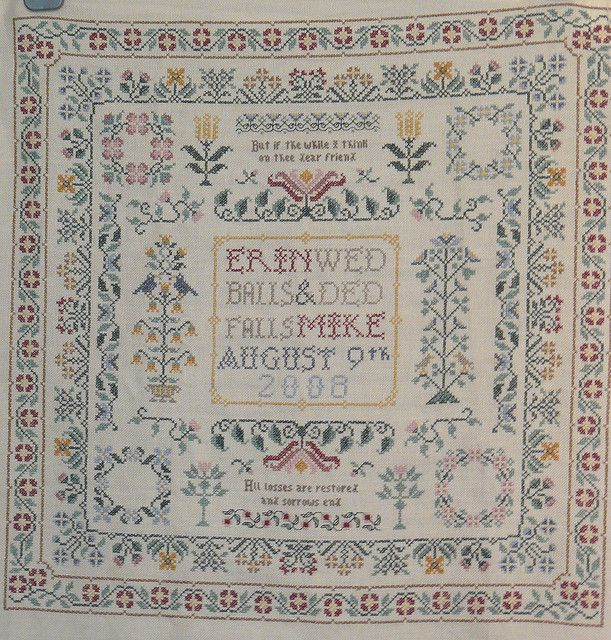 cross stitch wedding sampler | Flickr - Photo Sharing!