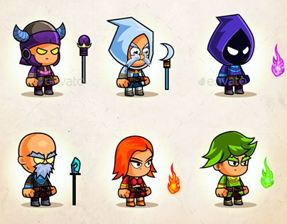 """Check out new work on my @Behance portfolio: """"Mages & Wizards Game Character Sprites"""" http://be.net/gallery/50136533/Mages-Wizards-Game-Character-Sprites"""