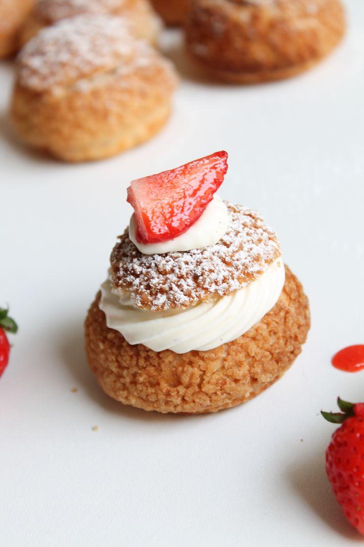 Choux vanille fraises