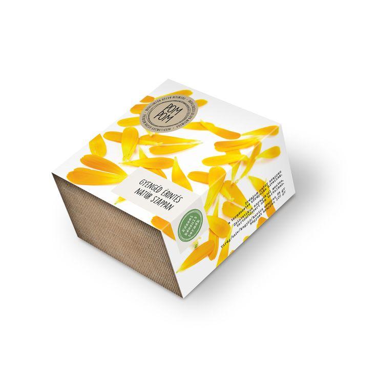 Shea vajas natúr szappan körömvirággal * shea butter natural soap with calendula flowers