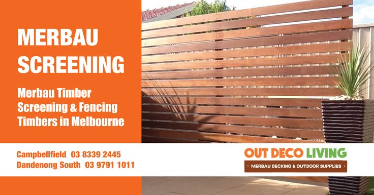 Out Deco Living Merbau Screenings are made from A Grade Merbau, great to use for Fencing or Screening Projects around your homes & garden. Our Screening or Fencing are solid and durable can lasts over 15 years or more. #MerbauScreening #MerbauFences #MerbauDecking