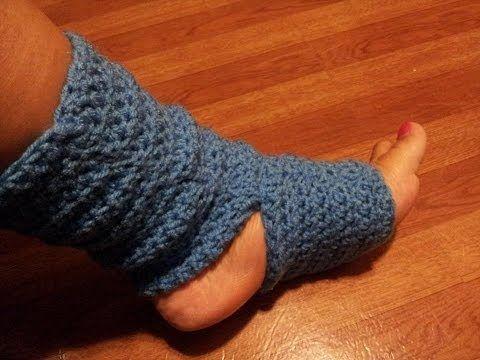 Tutorial - Easy Crochet Yoga Socks - YouTube