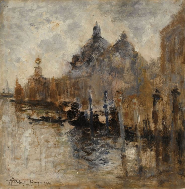 Pompeo Mariani (Italian, 1857-1927)  View of Salute in Venice  1908