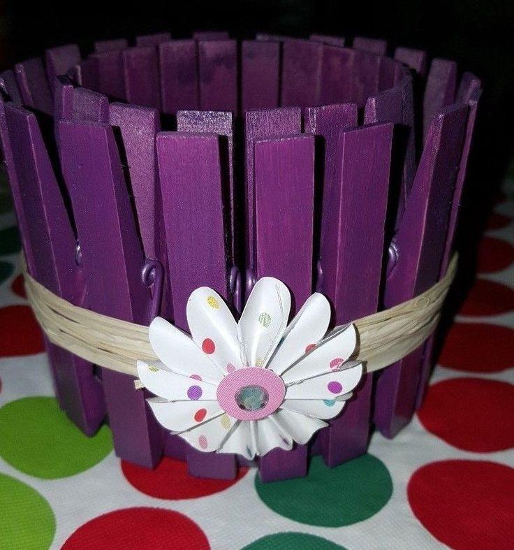 Clothespin Candle Holder - Light Purple #Handmade