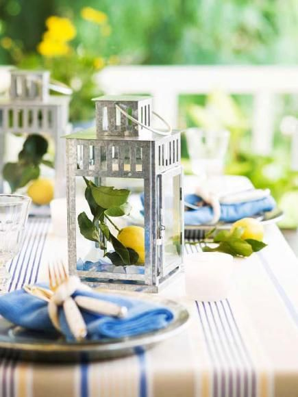 82 best summer decorating images on pinterest summer for Patio table centerpiece ideas
