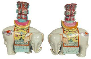 Obsessed with these Asian Midcentury Candleholders from One Kings Lane..