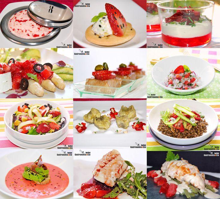 Doce recetas saladas con fresas
