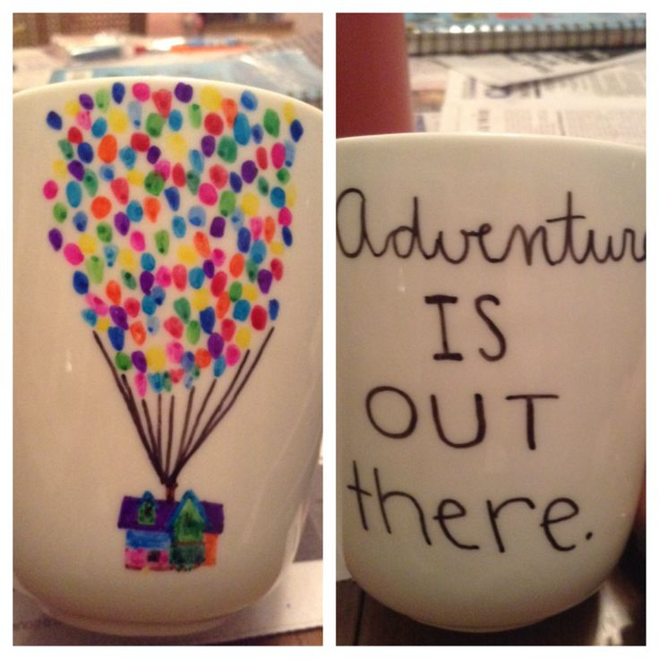 I made an Up mug using sharpies! Yay!
