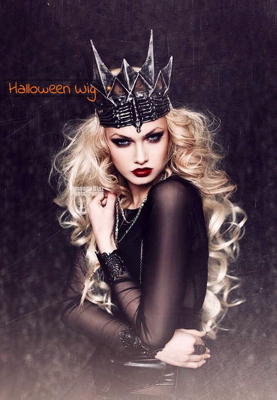 Blound Bouncy Wave Synthetic Lace Front Halloween Wigs [SHW11]