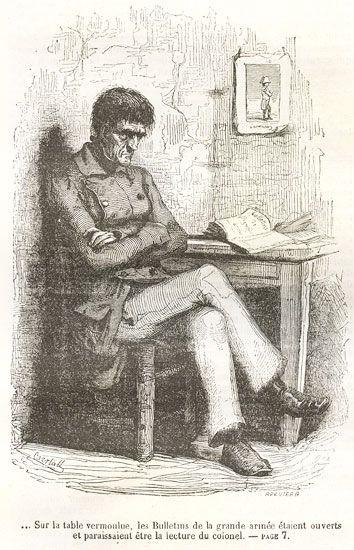 colonel chabert | Le Colonel Chabert- Honoré De Balzac / Dessin de Bertall.