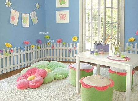 girl's+garden+room | Girls' Flower Garden Bedroom and Playroom | Wall Decorations | Heart ...